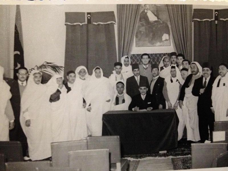 صورة بمناسبة افتتاح الدورة الثالثة للمجلس التشريعي الثاني 5 مارس 1956